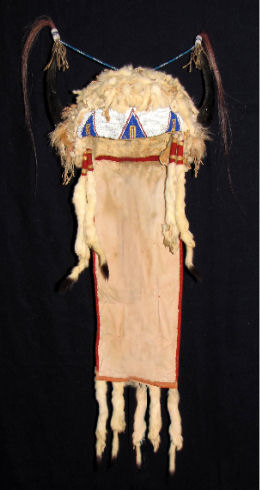 Old Split Buffalo Horns Sioux Headdress