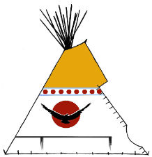 Traditional Cree Teepee - Copyright Assiniboine Tipis