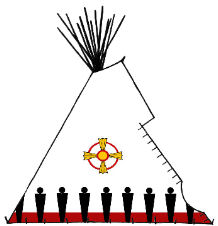 The People, Native American painted tipi