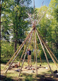 Construction du teepee